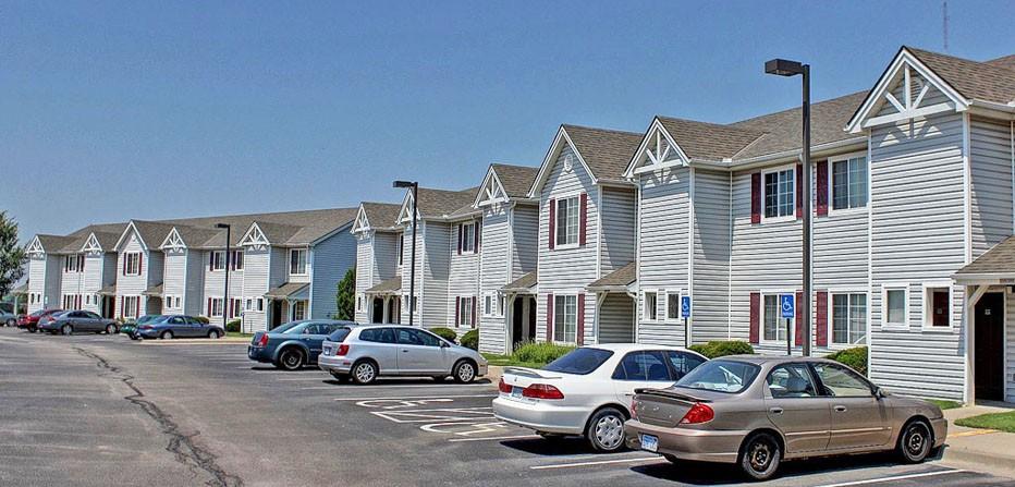 Apartment Buildings & Parking Lot
